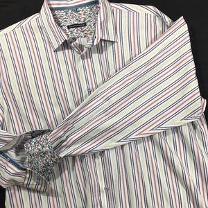 Visconti Uomo Shirts - Visconti Uomo Men's size XL longsleeve Buttonfront